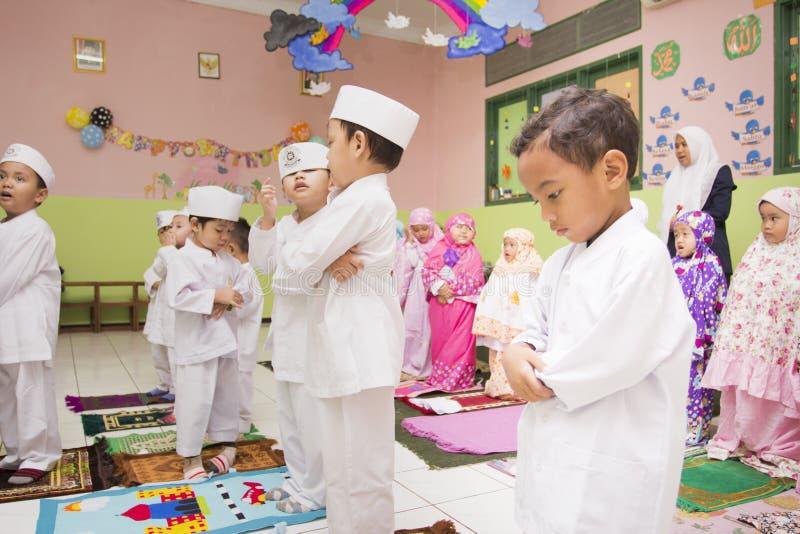 Moslemische Studenten stockbilder