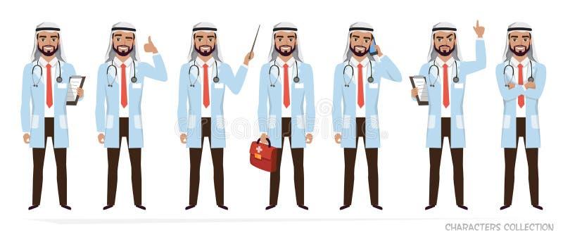 Moslemischer arabischer Doktormanncharakter vektor abbildung