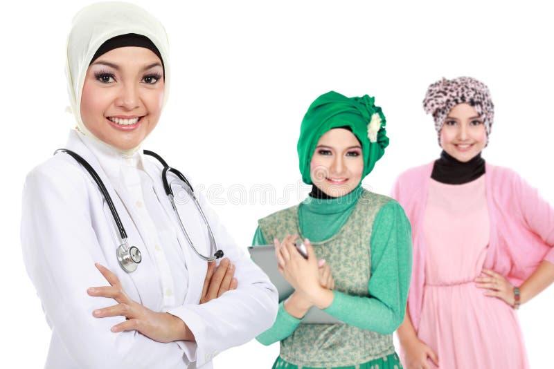 Moslemischer Arzt lizenzfreie stockbilder