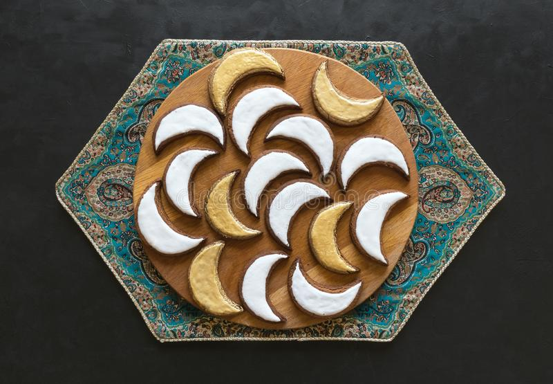 Moslemischer Bonbon Eid Arabische Bonbons f?r Ramadan stockfotos