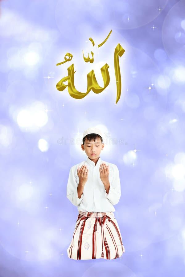 Moslemischer Junge stockfotos