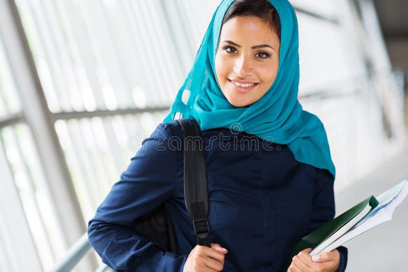 Moslemischer Student stockfoto