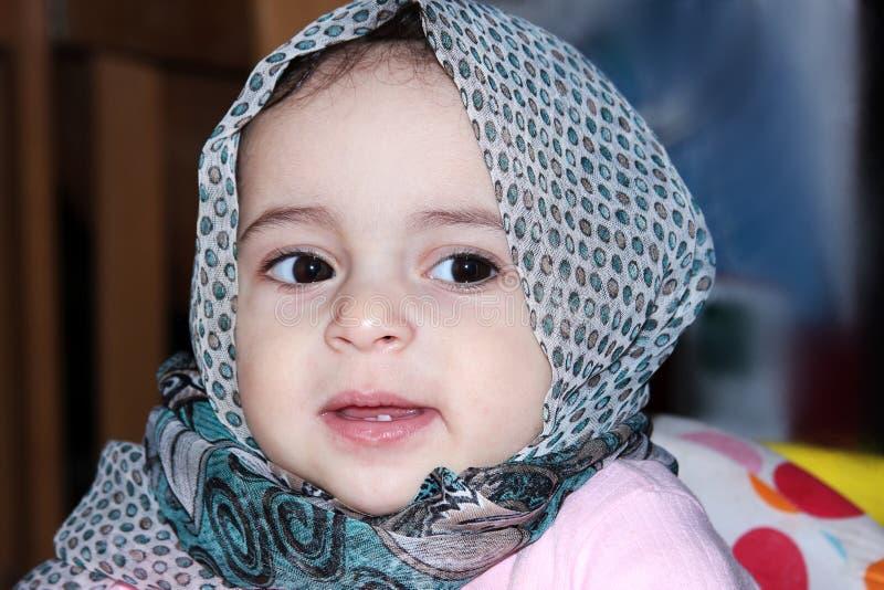 Moslemisches Baby lizenzfreie stockfotografie