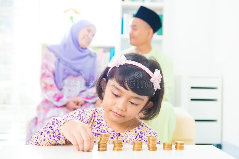Moslemisches Einsparungsgeld stockfotografie