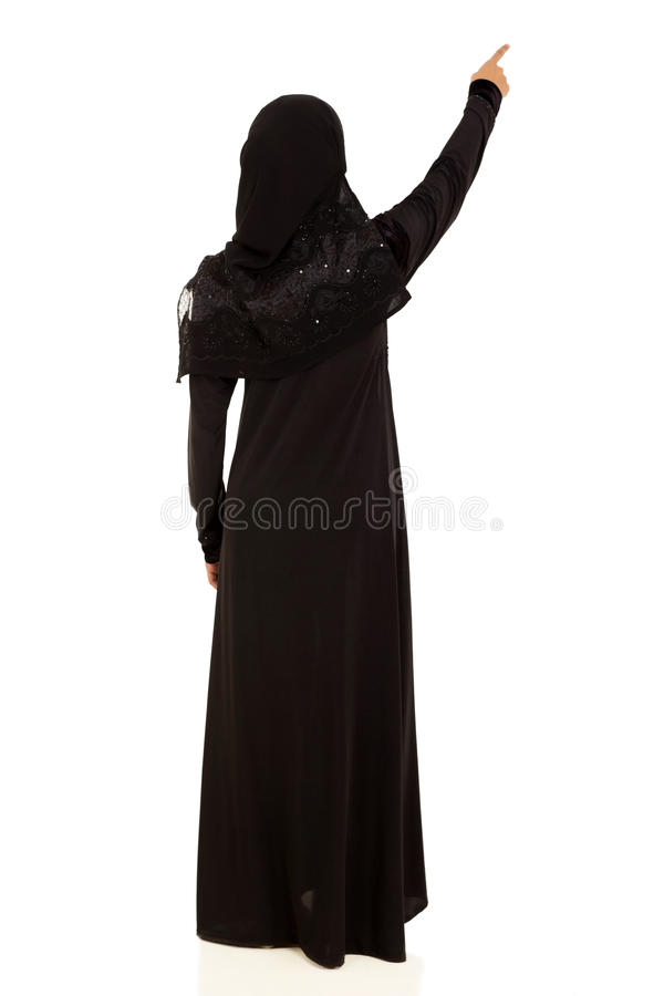 Moslemisches Frauenzeigen lizenzfreie stockfotos