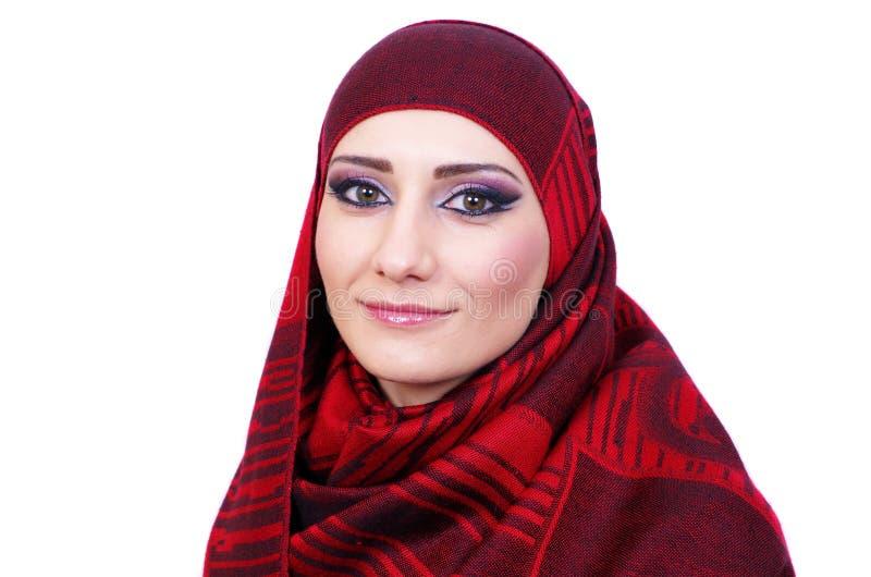 Moslemisches Mädchenporträt lizenzfreie stockfotografie