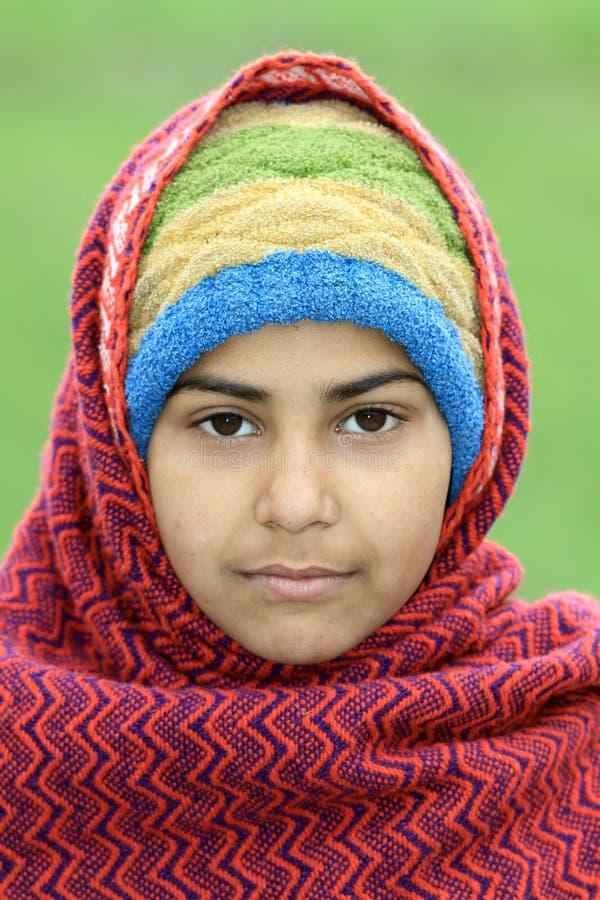 Moslemisches Mädchenportrait stockfoto