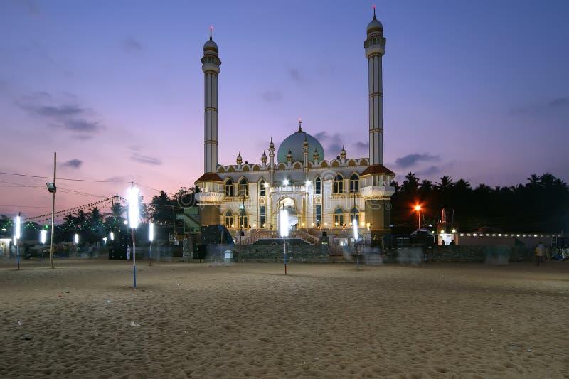 Moslim (Arabische) Moskee, Kovalam, India royalty-vrije stock afbeelding