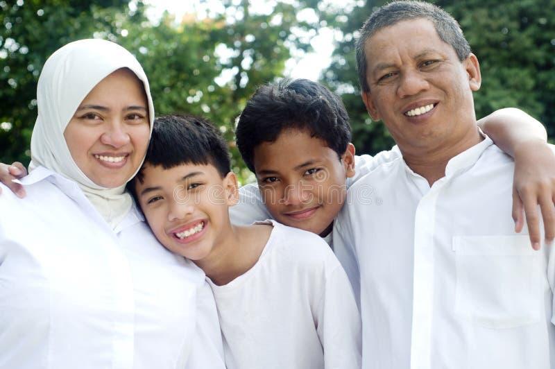 Moslim familie royalty-vrije stock fotografie
