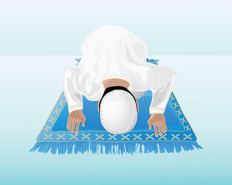 Moslim gebed royalty-vrije illustratie