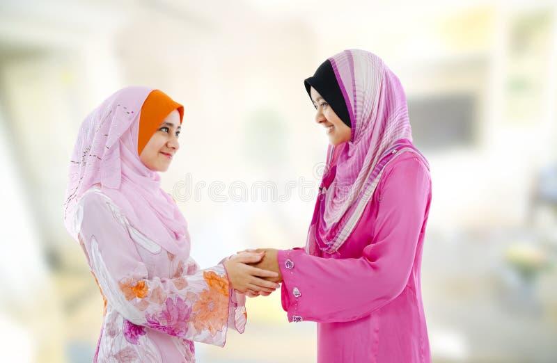 Moslim groet royalty-vrije stock afbeelding