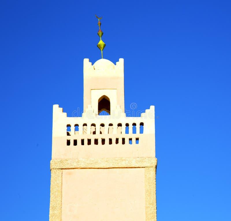 moslim het geschiedenissymbool in de minaretreligio van Marokko Afrika royalty-vrije stock fotografie