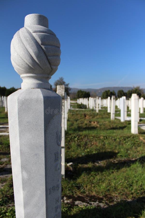 Moslim Islamitische begraafplaats stock afbeelding
