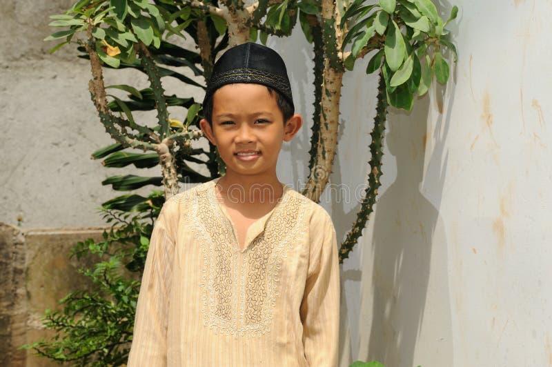 Moslim Jongen royalty-vrije stock afbeeldingen