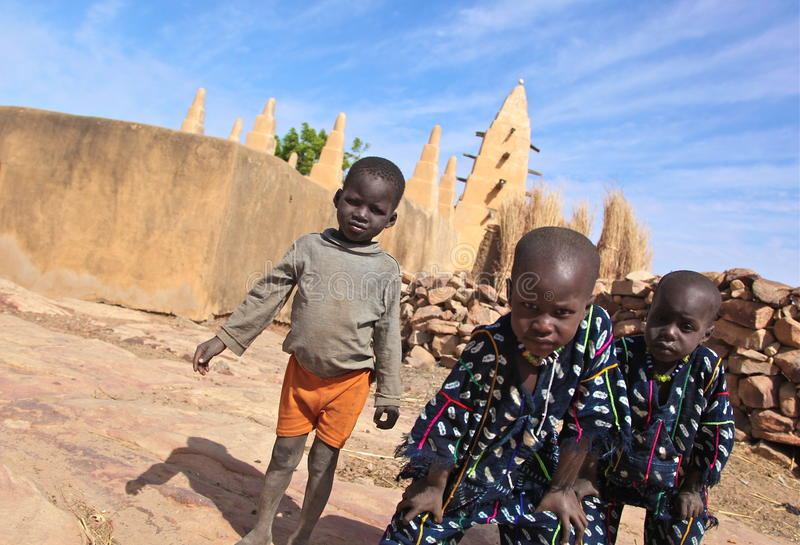 Moslim jongens in Mali royalty-vrije stock foto