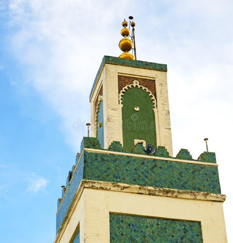 moslim in moskee mina van Marokko Afrika van het geschiedenissymbool stock fotografie