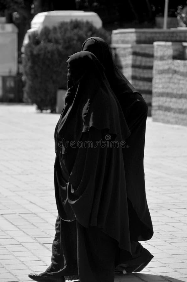 Moslim versluierde vrouw stock foto