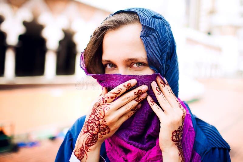 Moslim vrouw royalty-vrije stock afbeeldingen