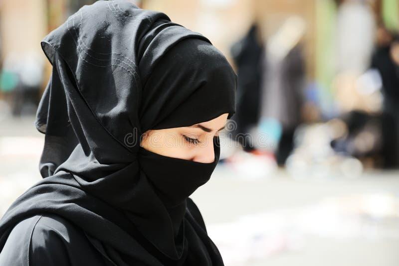 Moslim vrouw met sluier royalty-vrije stock foto