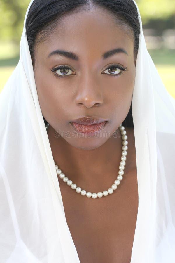 Moslim vrouw: sluier op gezicht royalty-vrije stock fotografie