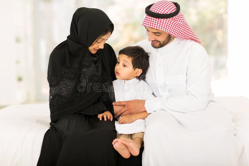 Moslimfamiliehuis royalty-vrije stock foto's