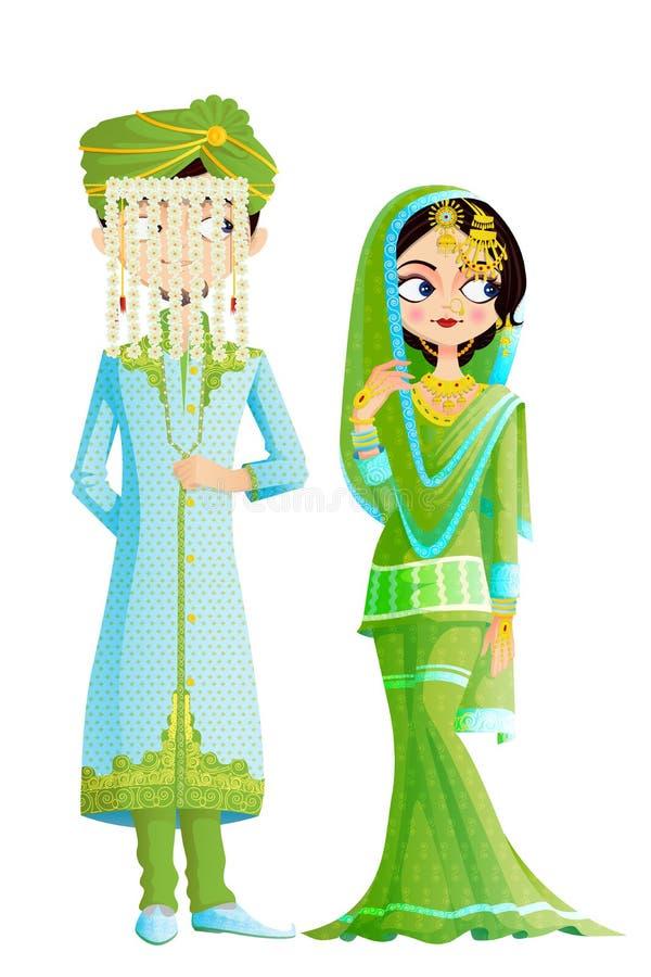 Moslimhuwelijkspaar vector illustratie