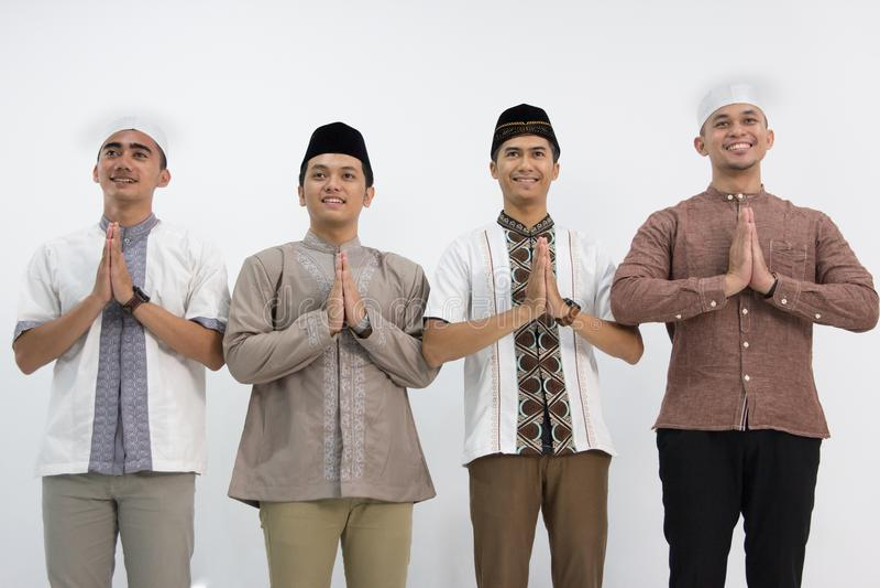 Moslimmensen` s Groep Photoshoot royalty-vrije stock afbeeldingen