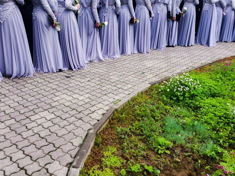 Moslimmiddelbare school prom royalty-vrije stock afbeelding
