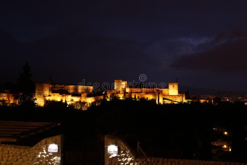 Moslimmonumentenla Alhambra in Granada stock afbeelding