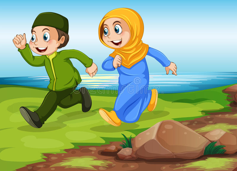 moslims stock illustratie