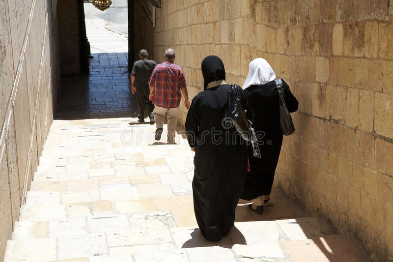 Moslimvrouwen royalty-vrije stock fotografie
