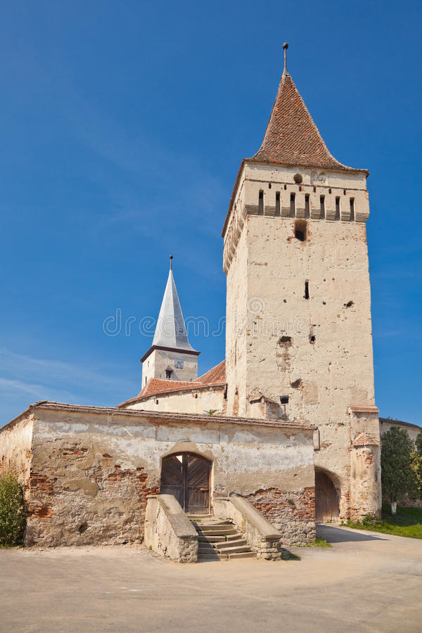 Mosna Fortified Church royalty free stock photos