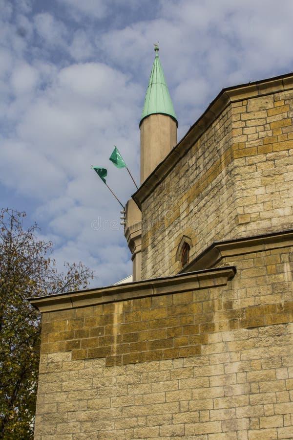 Mosquée au centre de la ville de Belgrade serbia photographie stock libre de droits