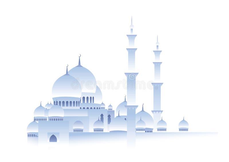 Mosquée blanche illustration stock