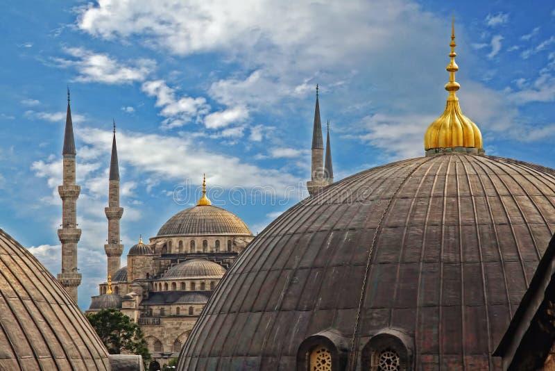 Mosquée bleue célèbre à Istanbul, Turquie photos libres de droits
