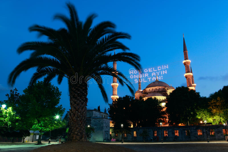 Mosquée bleue dans Ramadan à Istanbul, Turquie photo libre de droits