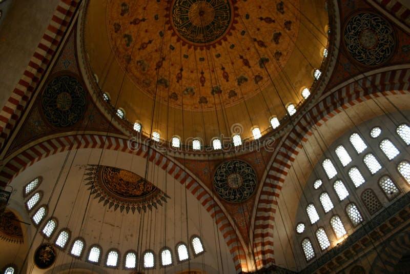 Mosquée bleue intérieure, Istanbul photo libre de droits