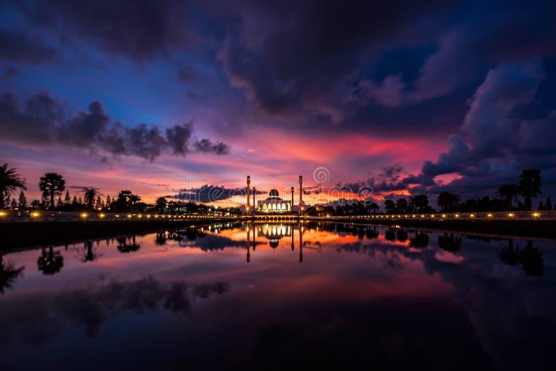 Mosquée centrale de Songkhla images libres de droits