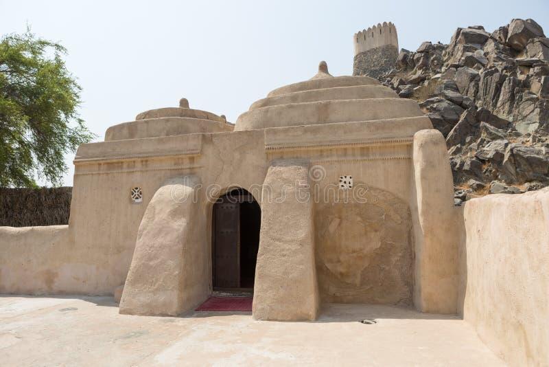 Mosquée d'Al Badiyah Mosque ou de tabouret la mosquée la plus ancienne aux EAU photographie stock libre de droits