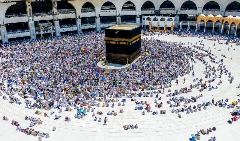Mosquée d'Al-Haram dans Mecque image stock