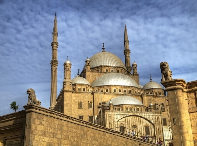 Mosquée d'albâtre de Muhammad Ali photos libres de droits