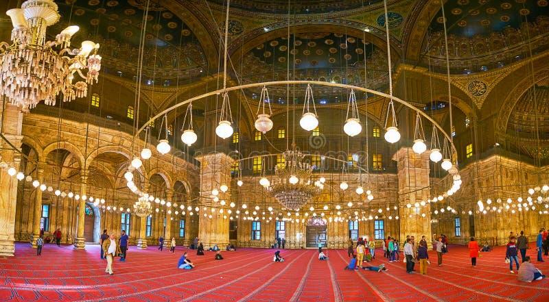 Mosquée d'albâtre de style d'Ottoman, citadelle du Caire, Egypte image libre de droits