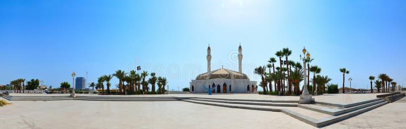 Mosquée d'Anani à jeddah dans le panorama photographie stock