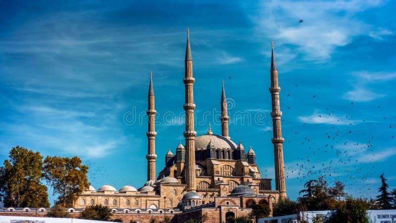 Mosquée d'Edirne Selimiye image libre de droits