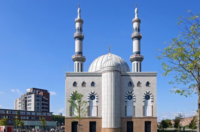 Mosquée d'Essalam dans la ville néerlandaise Rotterdam images libres de droits