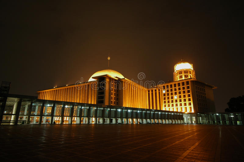 Mosquée d'Istiqlal photographie stock libre de droits