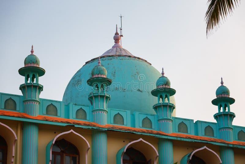 Mosquée d'Odayam Juma Masjid à la plage de Varkala, Kerala, Inde photo libre de droits