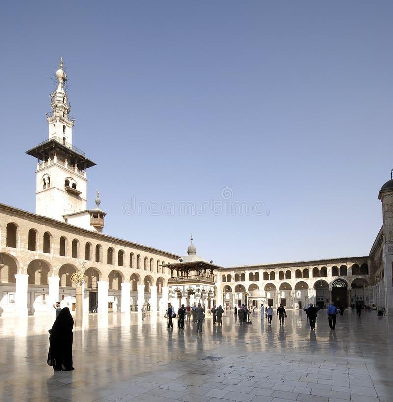Mosquée d'Umayyad à Damas image libre de droits