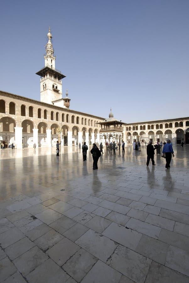 Mosquée d'Umayyad à Damas photo stock