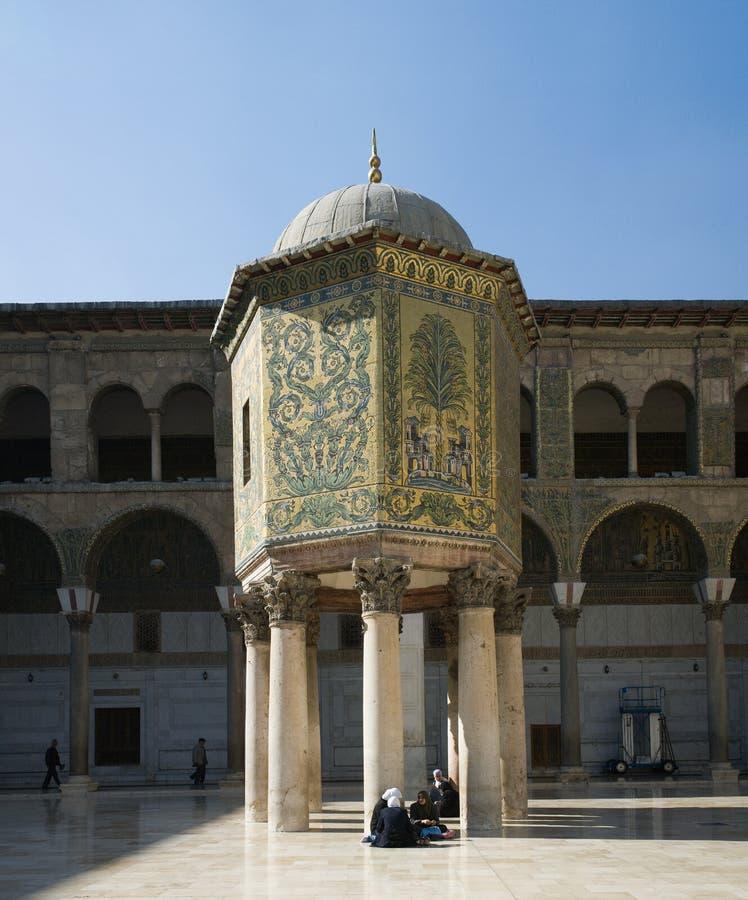 Mosquée d'Umayyad à Damas photos libres de droits
